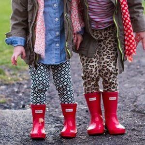 Hunter Kids Rain Boots Matte Red